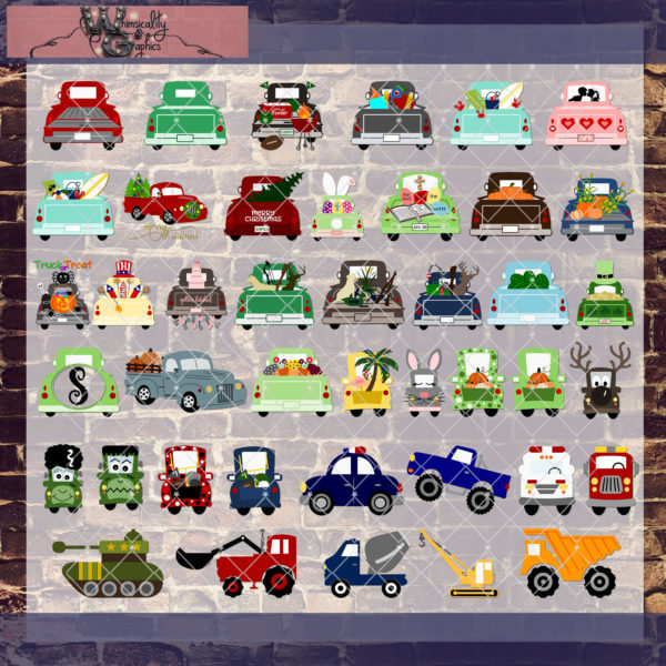 whimsicality vehicle bundle mockup
