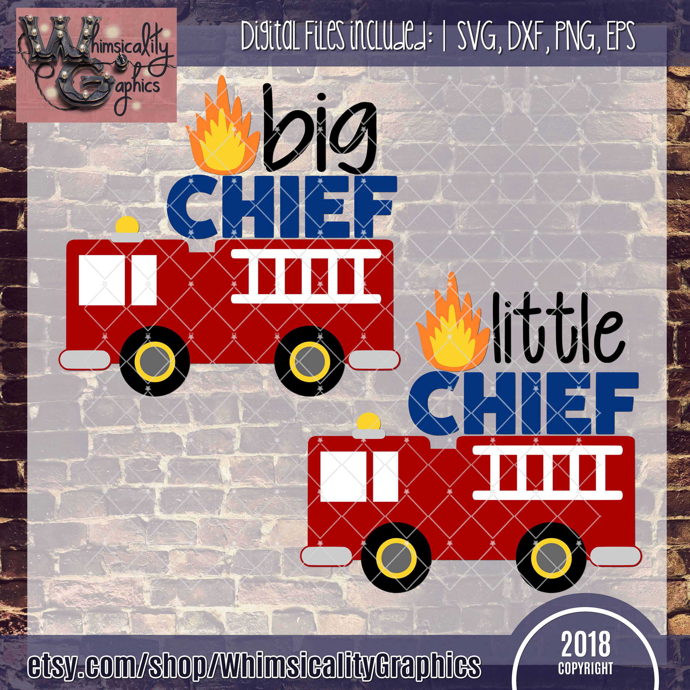 Little Big Chief Firetruck Svg Dxf Png Eps