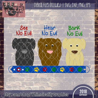 See Hear Bark No Evil Dogs