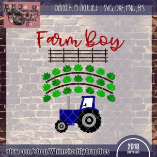Farm Boy With Tractor