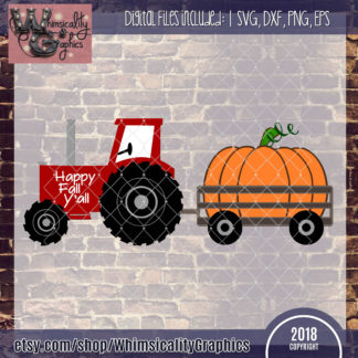 Tractor With Pumpkin