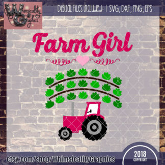 Farm Girl With Tractor