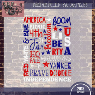 American Patriotic Word Art