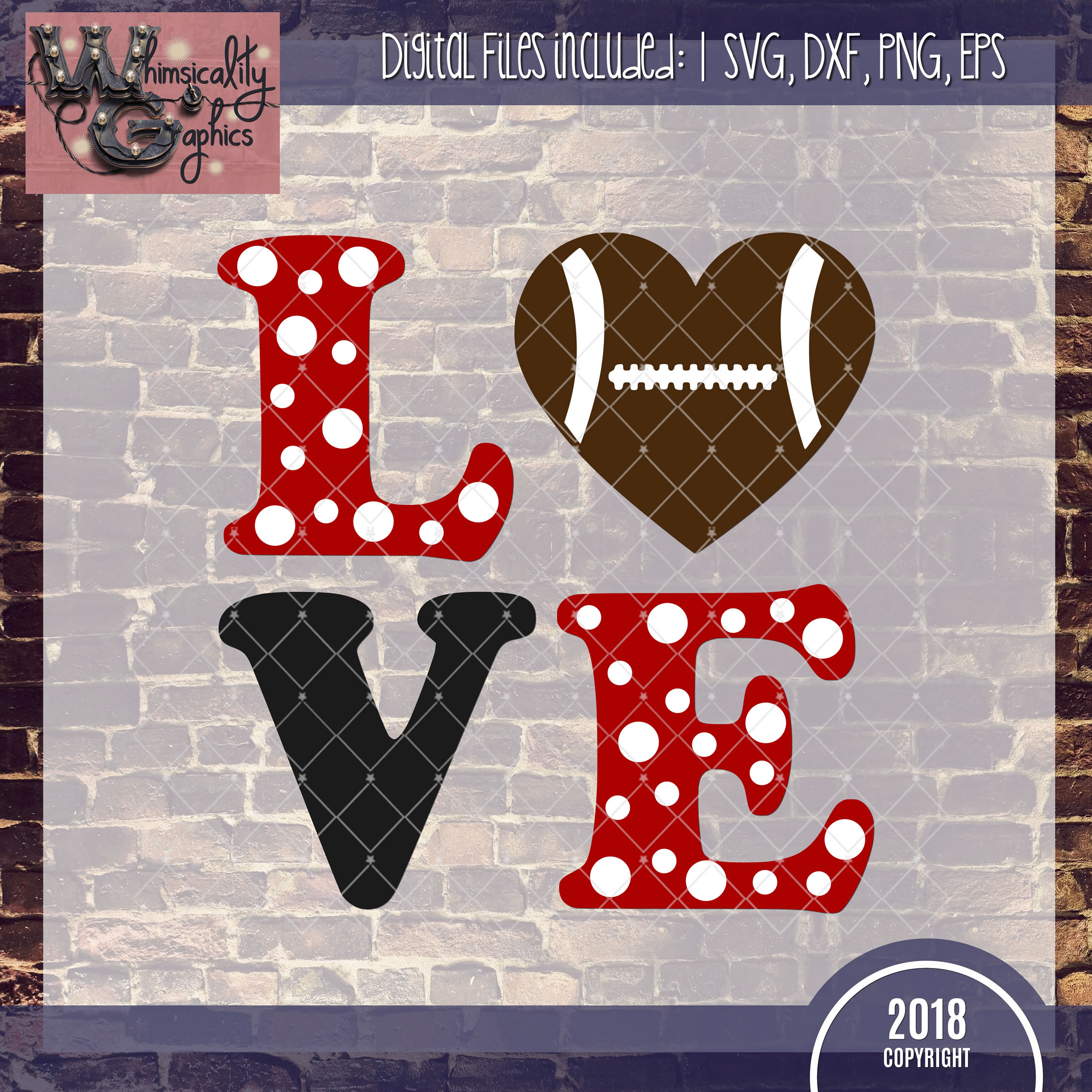 Love Football Svg Dxf Png Eps