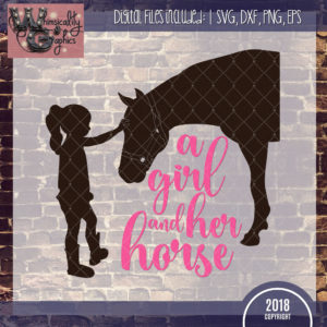 A Girl and Her Horse Silhouette