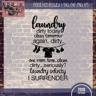 Laundry Dirty Today, Clean Tomorrow