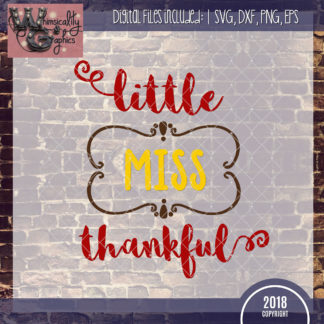 Lilttle Miss Thankful Thanksgiving