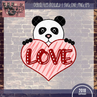 Panda Bear Love Valentine's Day