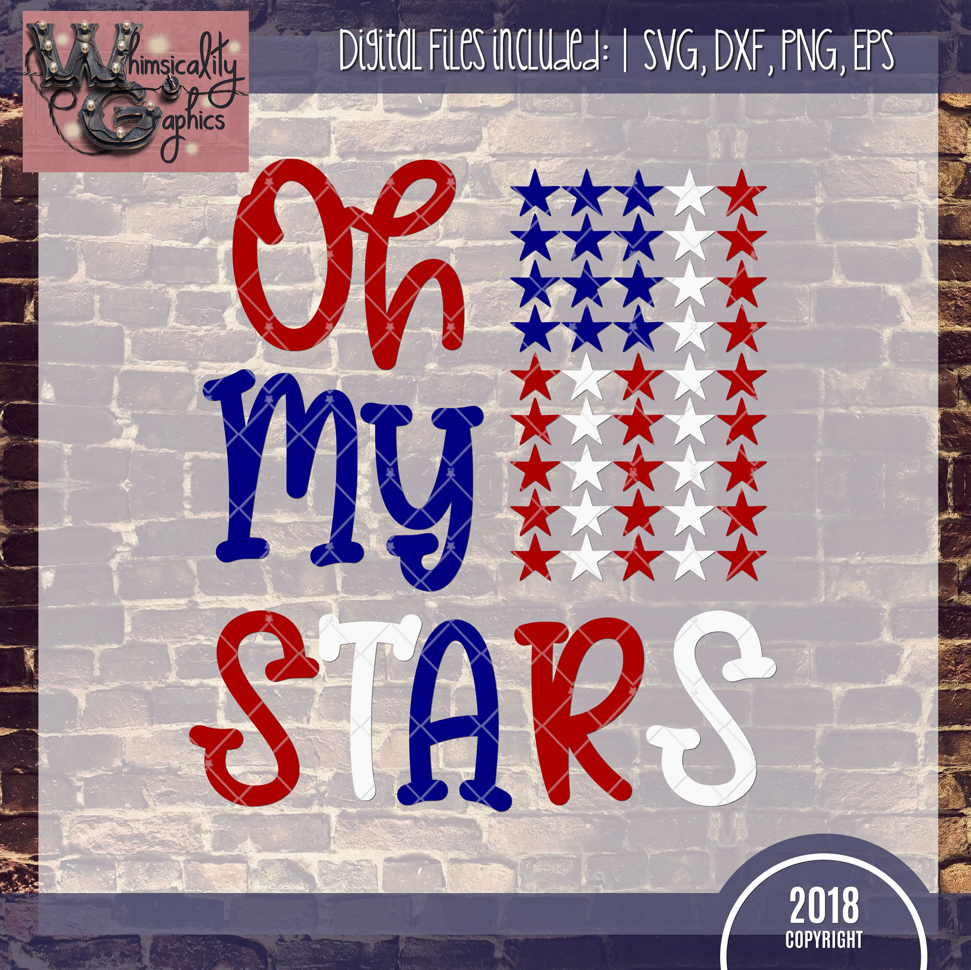 Oh My Stars Patriotic Svg Dxf Png Eps