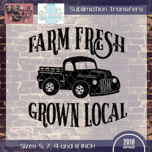 WGS120 Farm Fresh Grown Local Truck