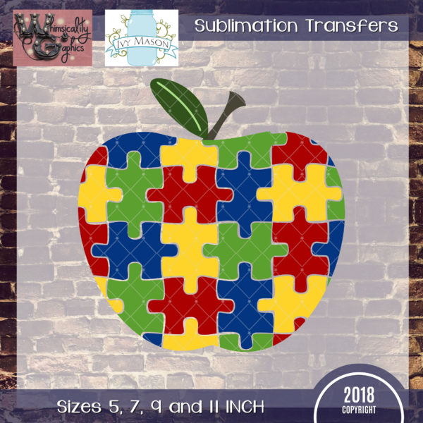 WGS116-A Special Education Apple Sublimation Transfer