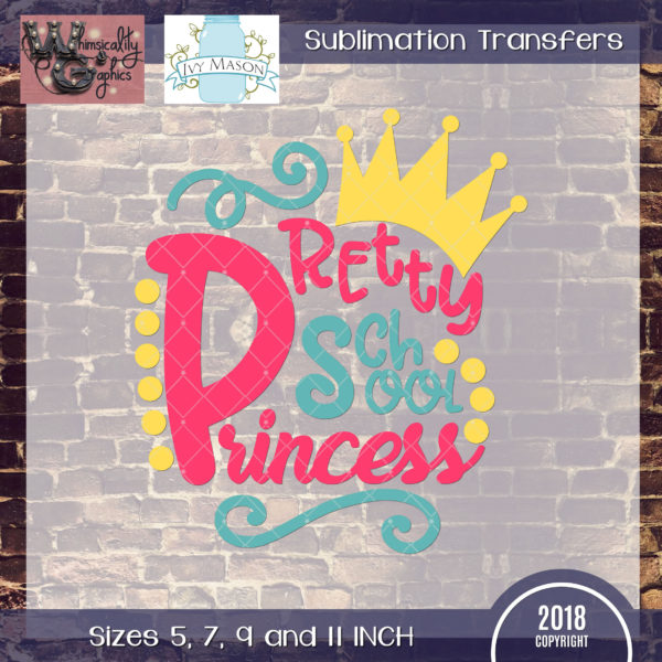 WGS143 Pretty School Princess Sublimation Transfer