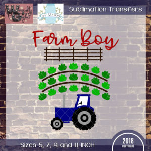 WGS195 Farm Boy Sublimation Transfer