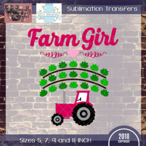 WGS196 Farm Girl Sublimation Transfer