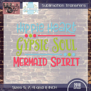 WGS199 Hippie Gypsy Mermaid Sublimation Transfer