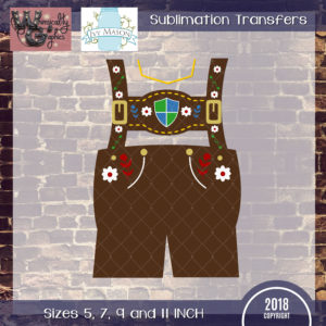 WGS205 Lederhosen Sublimation Transfer