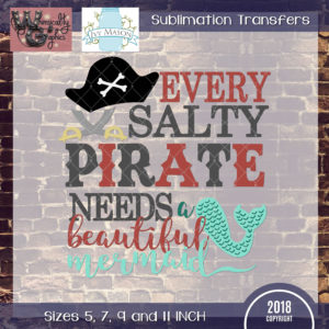 WGS226 Salty Pirate Mermaid Sublimation Transfer