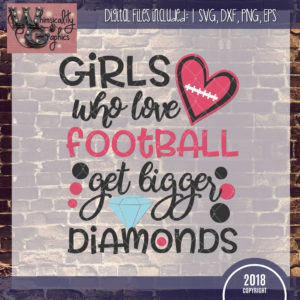 Girls Love Football Bigger Diamonds