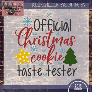official christmas cookie test taster