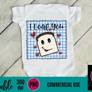 WGP105 I Loaf You Gingham Printable
