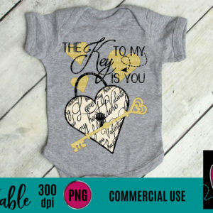 WGP102 Key to my heart printable