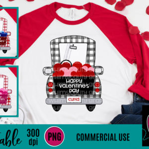 WGP114 Gingham Whimsy Truck Printable