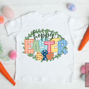 Printable Hoppy Easter Gingham