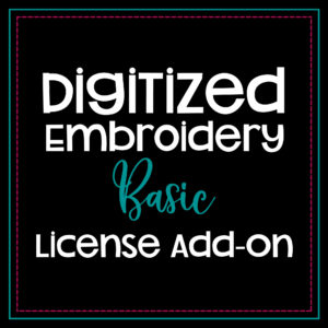 digitized embroidery basic license