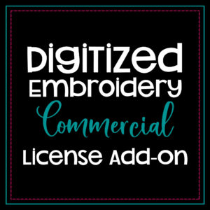digitized embroidery commercial license