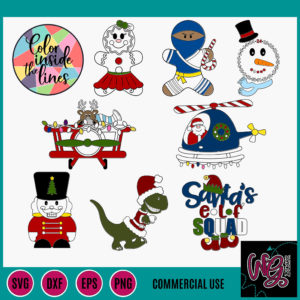 2019 Christmas Color It Yourself Bundle