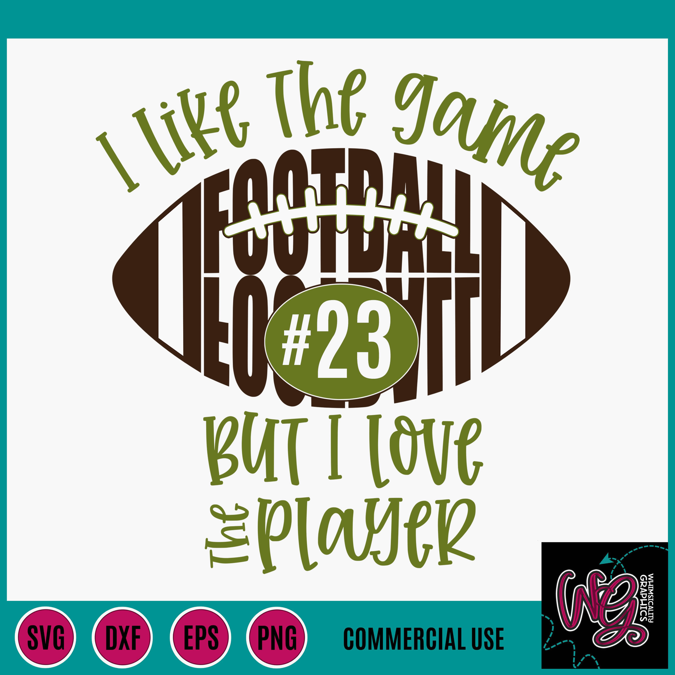 Download Football I Like the Game Love the Player SVG, DXF, PNG, EPS