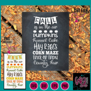 Fall Is In The Air Sentiments Svg Dxf Png Eps